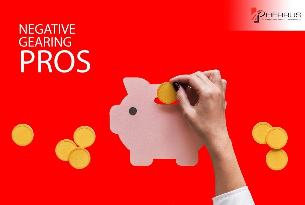 money being put into piggy bank representing positive results or the pros of negative gearing for investment
