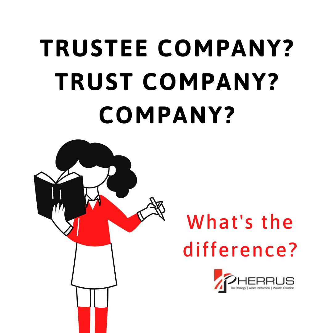 trustee company trust company and company comparison